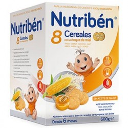 NUTRIBEN 8 CEREALES, MIEL Y GALLETA MARIA 600G