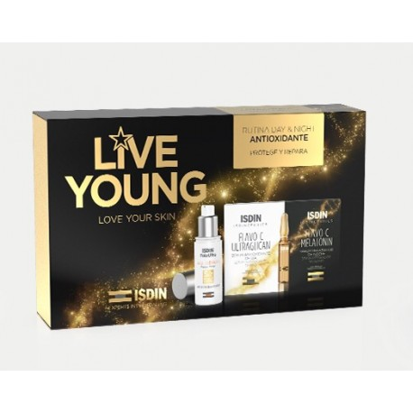 ISDINCEUTICS LIVE YOUNG PACK AGE REPAIR + AMPOLLAS FLAVOC+MELATONIN