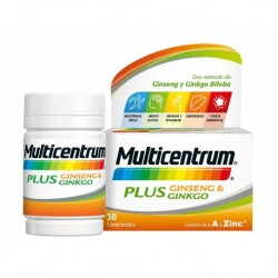 MULTICENTRUM PLUS GINSENG Y GINGKO 30C